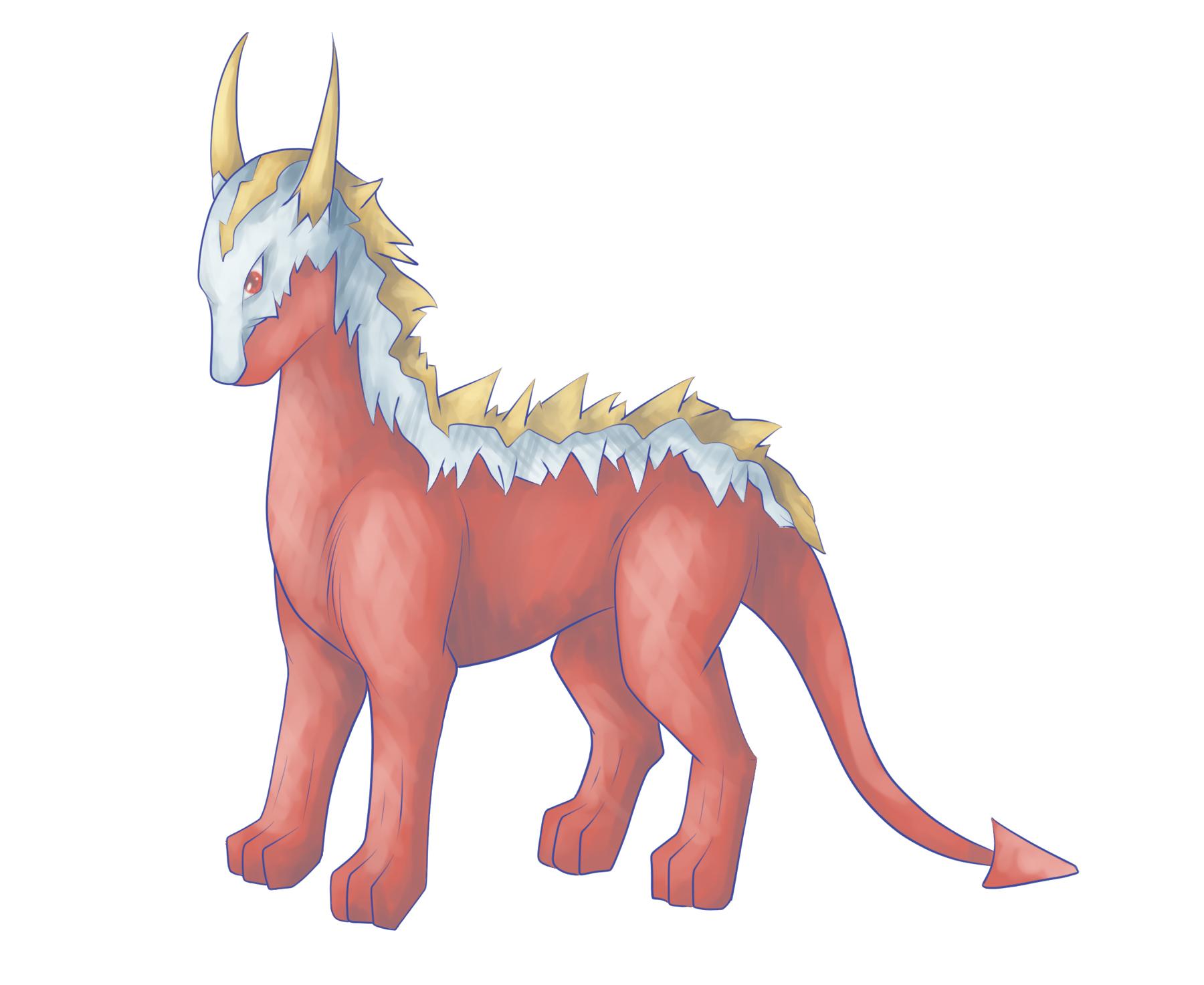 Pokémon-Zeichnung: Leviahn