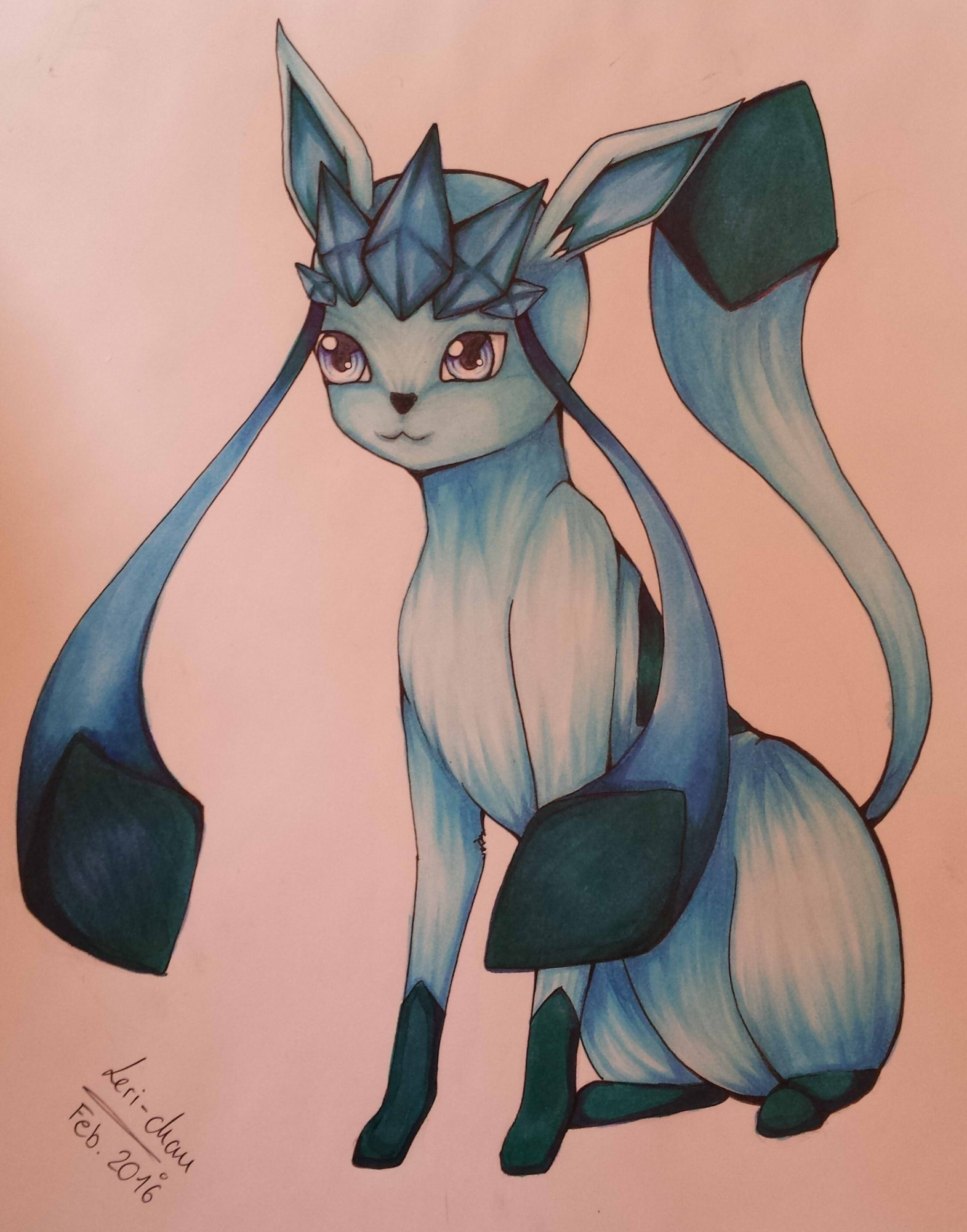 Pokémon-Zeichnung: Glaziola Copic