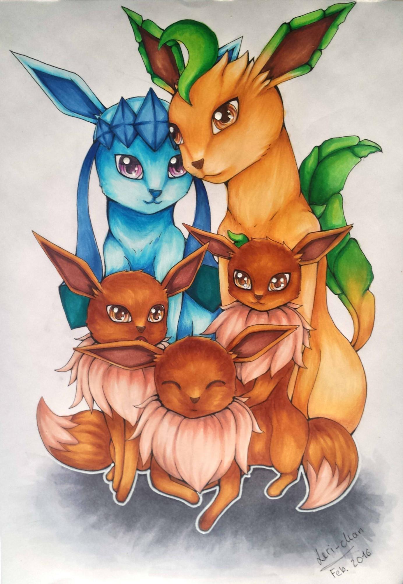 Pokémon-Zeichnung: Family Portrait