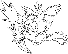 Pixelart Outlines Arktos Zapdos Und Lavados Pokémon Fanart