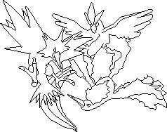 Pokémon-Pixelart: [Outlines] Arktos, Zapdos und Lavados