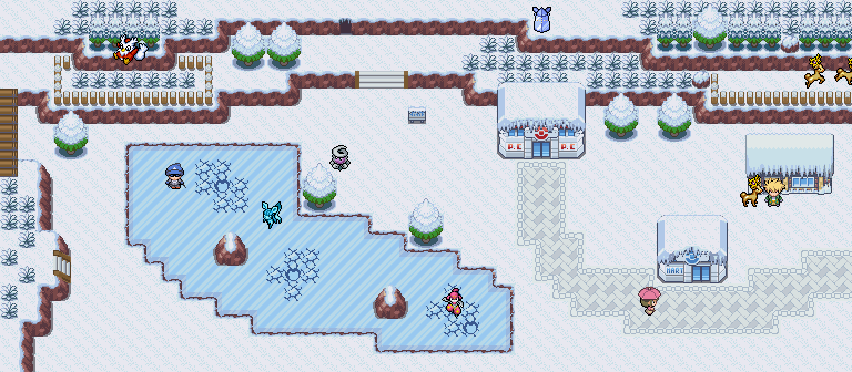 Pokémon-Map: cold as ice