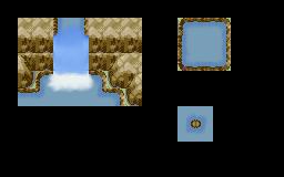 Pokémon-Tileset: Wasserfall