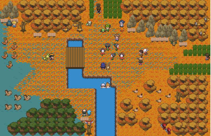 Pokémon-Map: Herbst-Wald