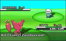 Pokémon-Fanart: Eneco vs Mijumaru Battlescreen