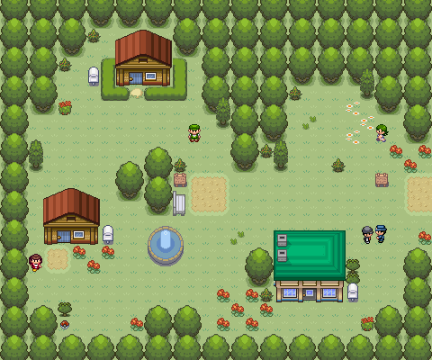 Pokémon-Map: Anfangsstadt