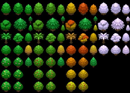 Pokémon-Tileset: Teilset: Bäume