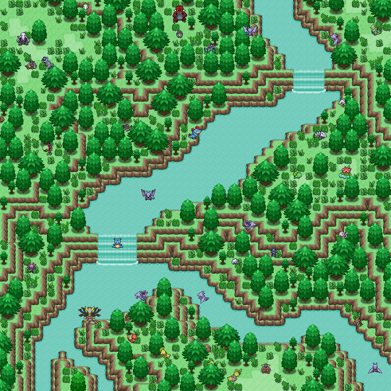 Pokémon-Map: Urwald