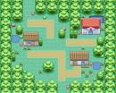 Kleines Dorf im Wald