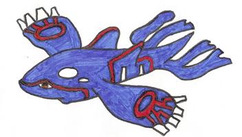 Pokémon-Zeichnung: Kyogre [Selbstgezeichnet]