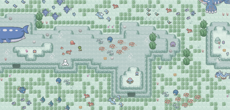 Pokémon-Map: Mapping Wettbewerb #10 Kategorie 3 - Unterwasser Biotop