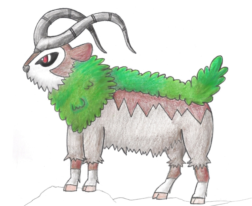 Pokémon-Zeichnung: Googooto, Gogoat, Chevrumm <3 (Zeichnung)