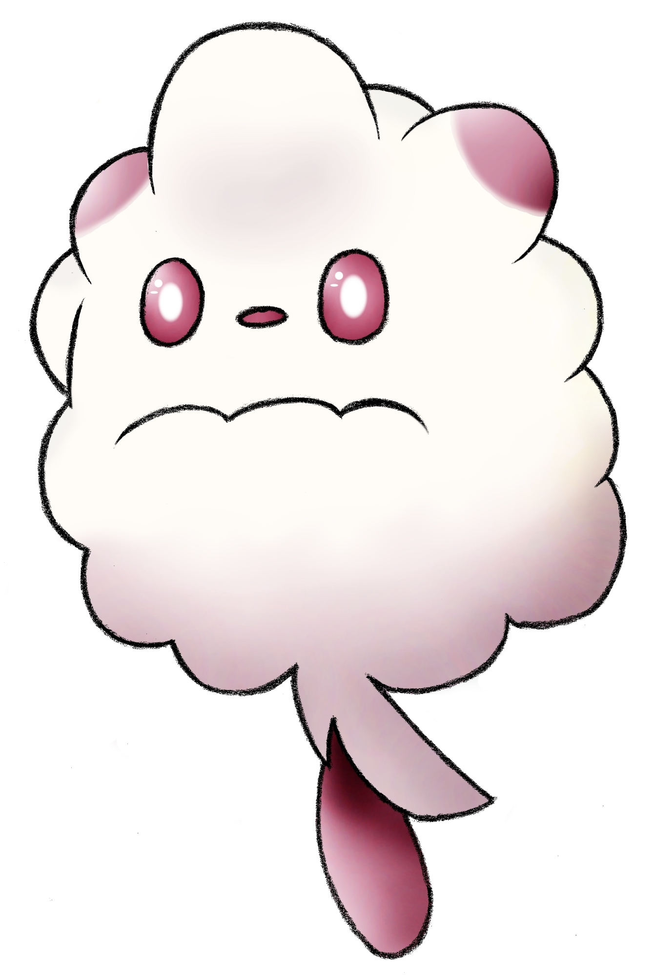 Pokémon-Zeichnung: Sad Flauschling is sad.