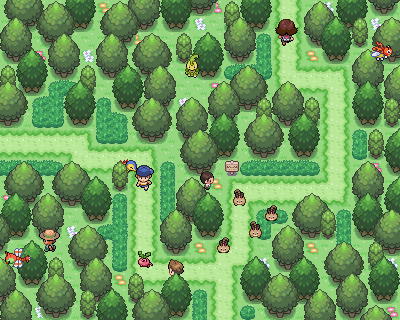 Pokémon-Map: Waldroute