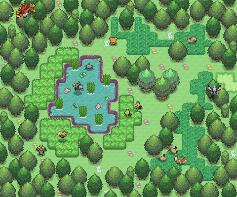 Pokémon-Map: Idyllischer Waldteich