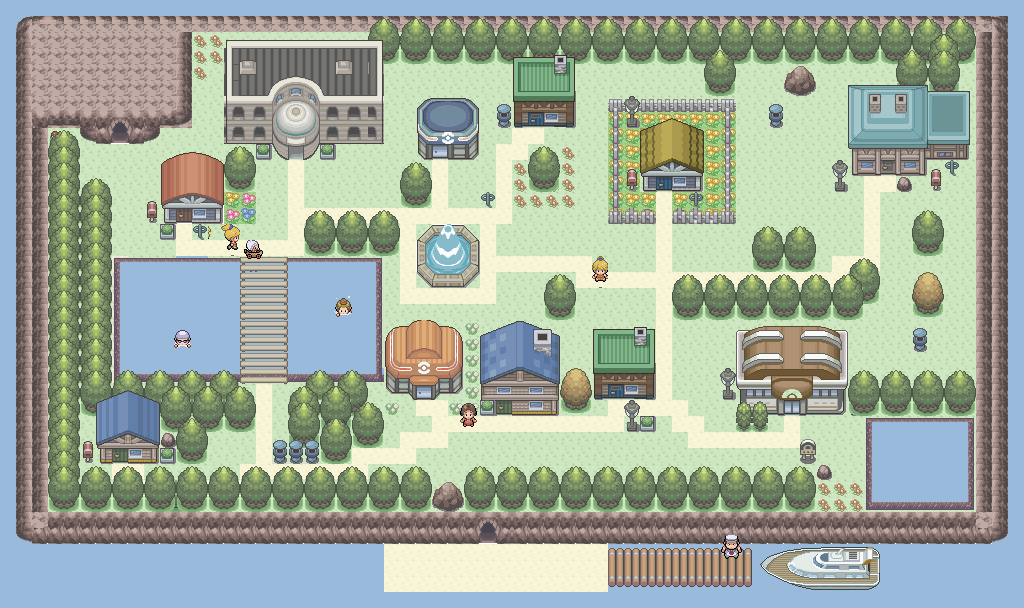 Pokémon-Map: Grüne Insel