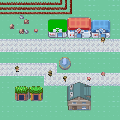 Pokémon-Map: kleines dorf