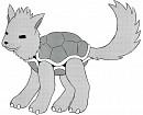 Hunde-Schildkröte - mit Rasterfolie