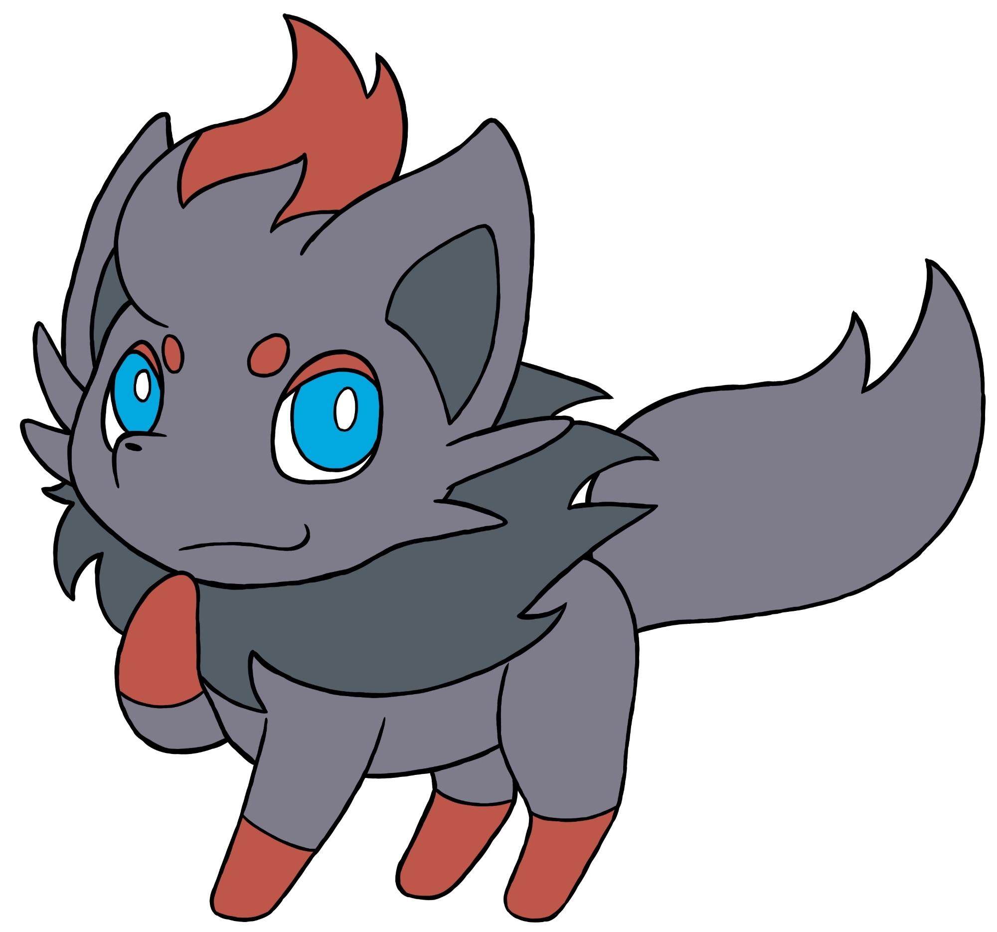 Pokémon-Zeichnung: Zorua-Zeichnung