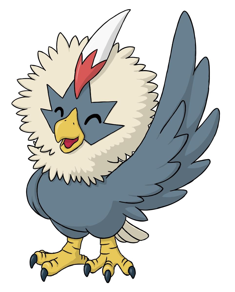 Pokémon-Zeichnung: Geronimatz - diesmal mit Schatten