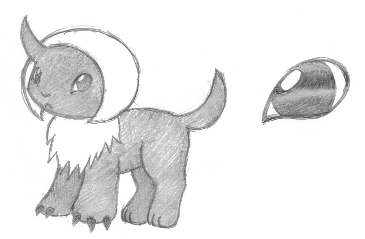 Pokémon-Zeichnung: Absol Vorentwicklung