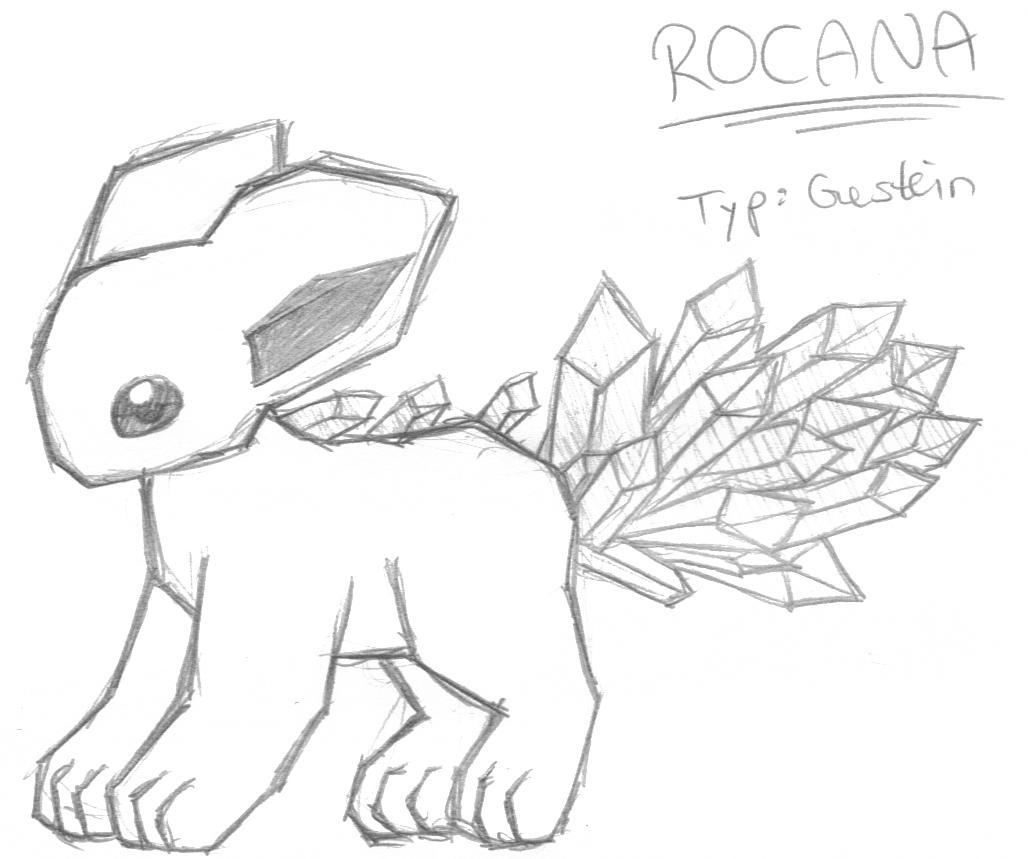 Pokémon-Zeichnung: Rocana