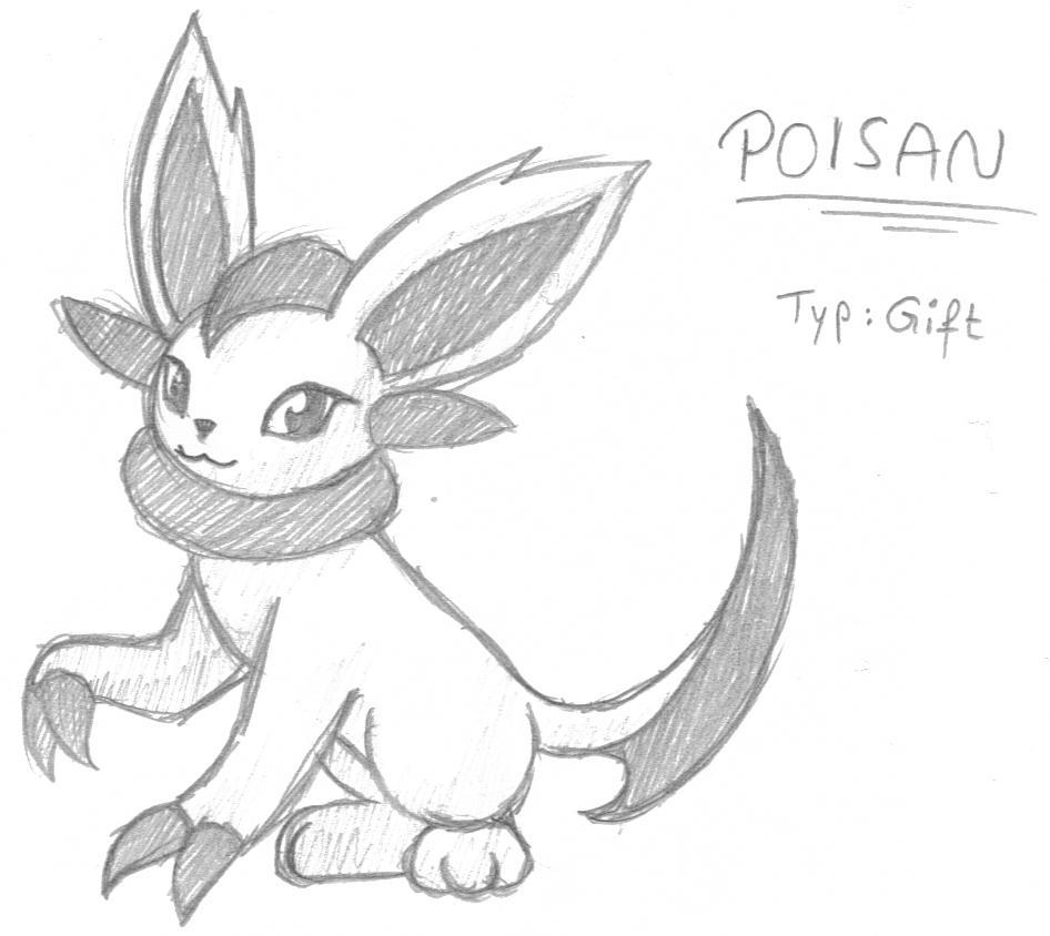 Pokémon-Zeichnung: Poisan
