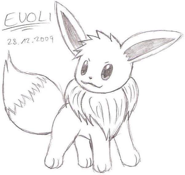 Zeichnung Evoli Pokémon Fanart