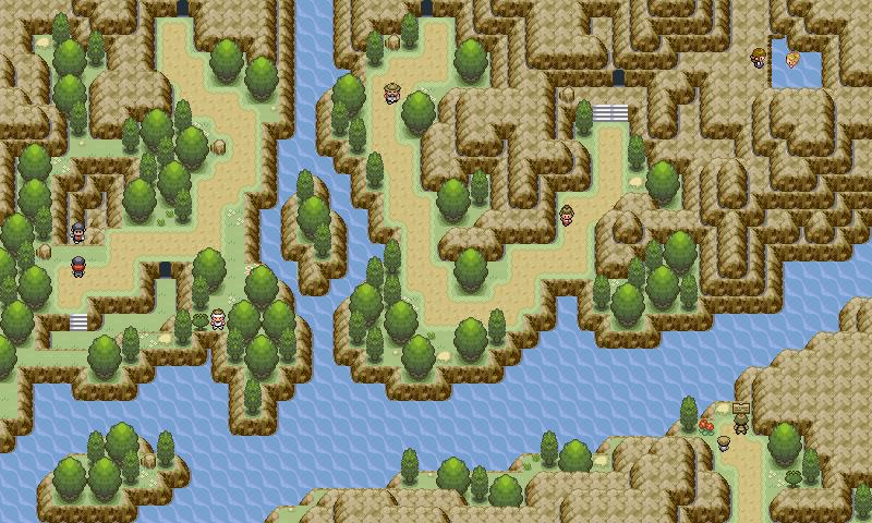 Pokémon-Map: Gebirgsfluss