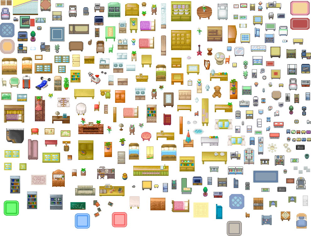 Pokémon-Tileset: Möbel