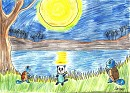 Schiggy und Ottaro im Mondlicht