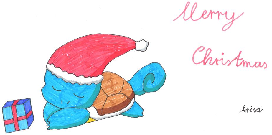 Pokémon-Zeichnung: Weihnachten