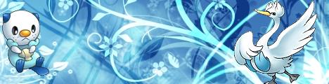 Pokémon-Fanart: Blauer-Pokemon-Banner
