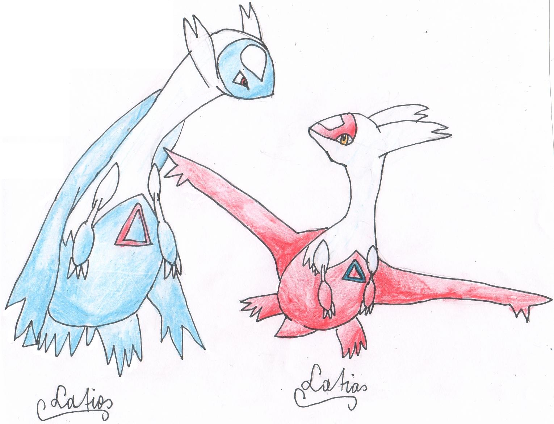 Pokémon-Zeichnung: Latias & Latios