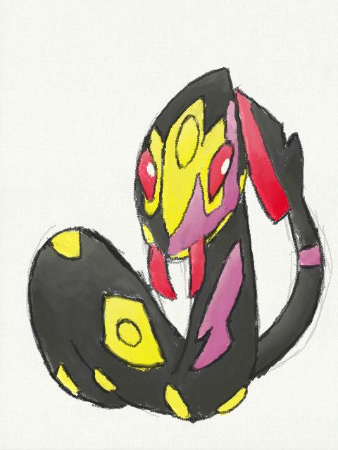 Pokémon-Zeichnung: Vipitis