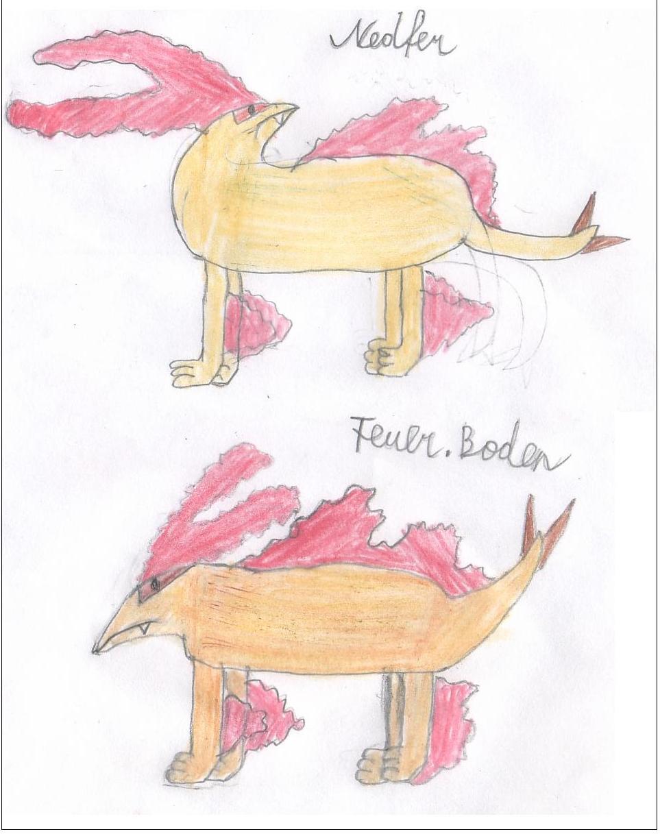 Pokémon-Zeichnung: Nedfer