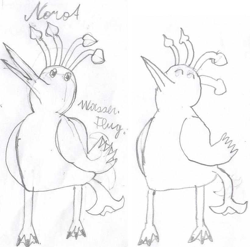 Pokémon-Zeichnung: Norot