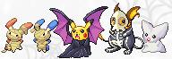 Pokémon-Sprite: Pikas Bande Halloween