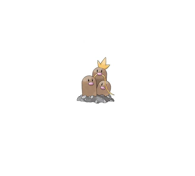 Pokémon-Zeichnung: Digdriking