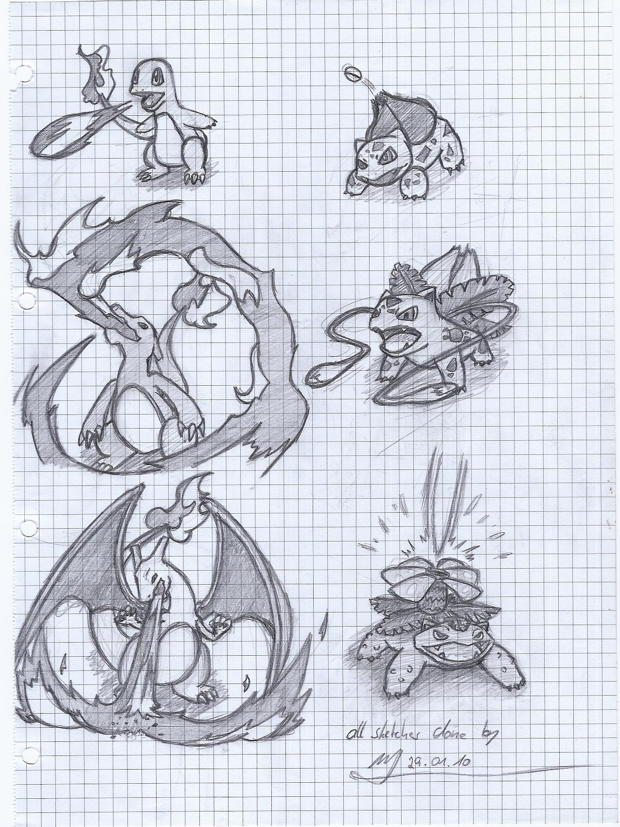 Pokémon-Zeichnung: Pausengekritzel