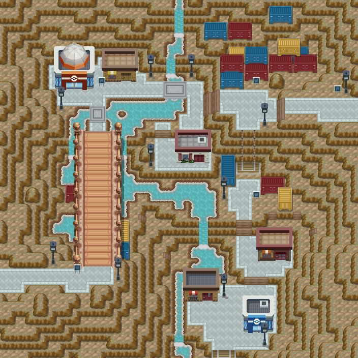 Pokémon-Map: Wastedeep Valley Town
