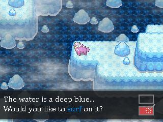 Pokémon-Map: Tiefblau