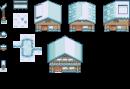 Schneebedeckte Häuser