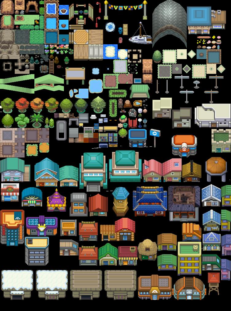 Pokémon-Tileset: JohtoAllstarMix-Tileset