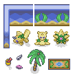 Pokémon-Tileset: Tileset - Strandarena