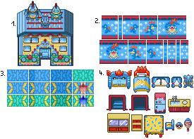 Pokémon-Tileset: Tileset - Krokoausstattung - Kar-Tyr-Imp