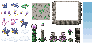 Pokémon-Tileset: Tileset - Mewtu Island