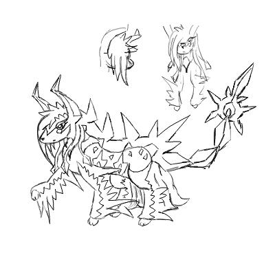Pokémon-Zeichnung: CG Skizze - Kitashiro