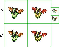 Pokémon-Sprite: Laubfledermaus-Starter