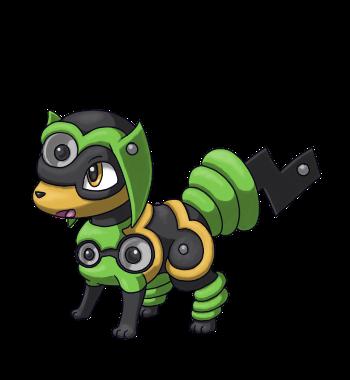 Pokémon-Zeichnung: Schall-Welpe Fakemon